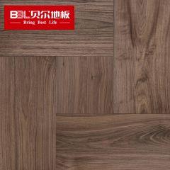 贝尔地板 多层拼花系列 黑胡桃多层实木地板混拼(600*300/300*300两种规格) BPH8016